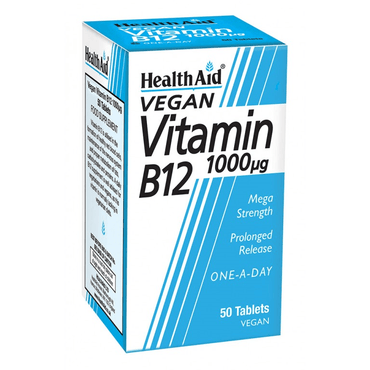 HealthAid Vitamin B12 1000ug-Prolonged Release - 100 Tablets