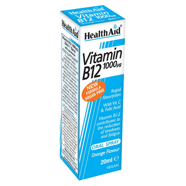 HealthAid Vitamin B12 (Cyanocobalamin) 1000ug Spray 20ml