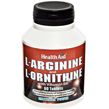 HealthAid L-Arginine with L-Ornithine 300mg - 60 Tablets