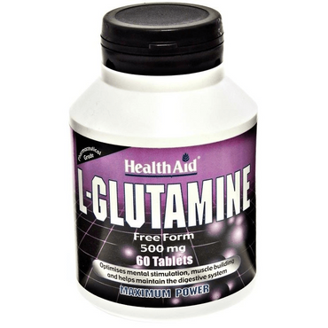 HealthAid L-Glutamine 500mg - 60 Tablets