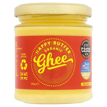Happy Butter Cultured Organic Ghee 150g