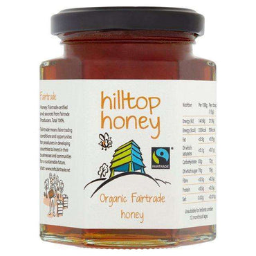 Hilltop Honey Organic Fairtrade Honey 227g