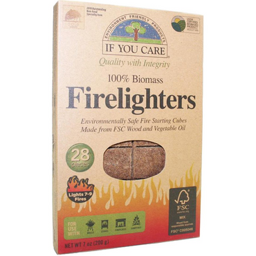 If You Care Firelighters. Non toxic Wood and Vegetable 28 pieces