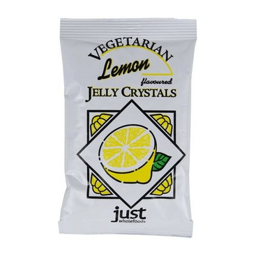 Just Wholefoods Real Fruit Flavoured Lemon Jelly Crystals - 85g