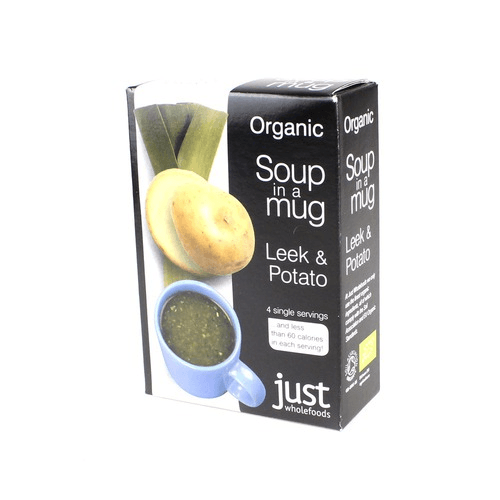 Just Wholefoods Organic Vegan Leek & Potato Soup - 4x17g