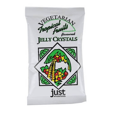 Just Wholefoods Real Fruit Flavoured Tropical Fruits Jelly Crystal 85g