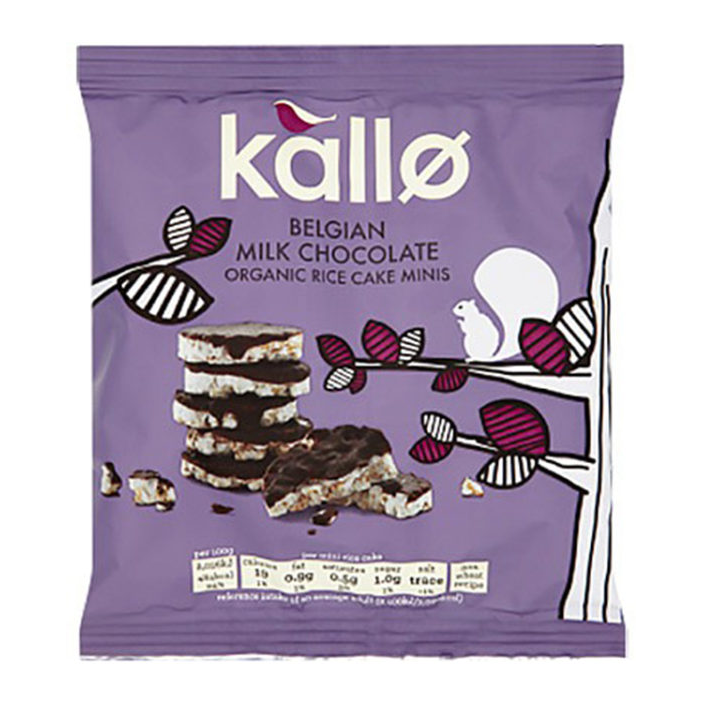Kallo Belgian Chocolate Mini Rice Cakes 40g