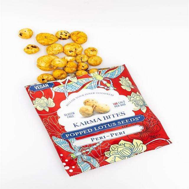 Karma Bites Popped Lotus Seeds Peri-Peri 25g (Pack of 12)
