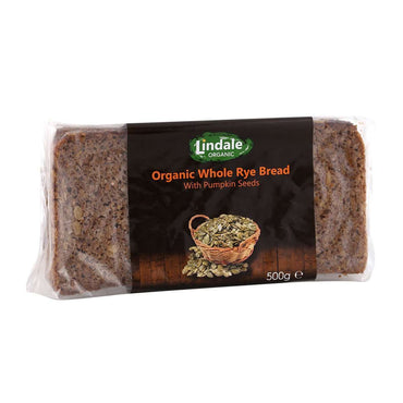 Lindale Organic Whole Rye Bread with Pumpkin Seed 500g