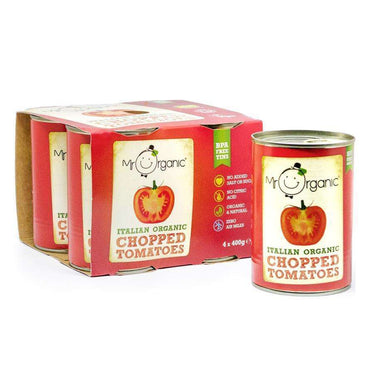 Mr Organic Organic Chopped Tomatoes (BPA-free) 4 x 400g
