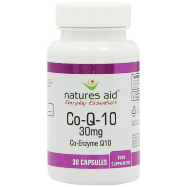 Natures Aid Co-Q-10 - 30mg (Co Enzyme Q10) 30 Caps