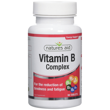 Natures Aid Vitamin B Complex (Improved Formula) 90 Tablets