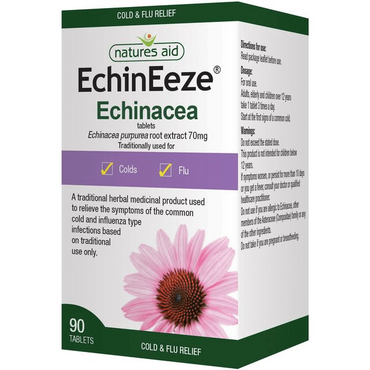 Natures Aid EchinEeze - Echinacea root extract 70mg 30 Tablets