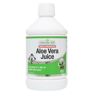Natures Aid Aloe Vera Juice - Double Strength 500ml