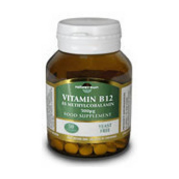 Natures Own Vitamin B12 Methylcobalamin & Adenosylcobalamin Sublingual 60s