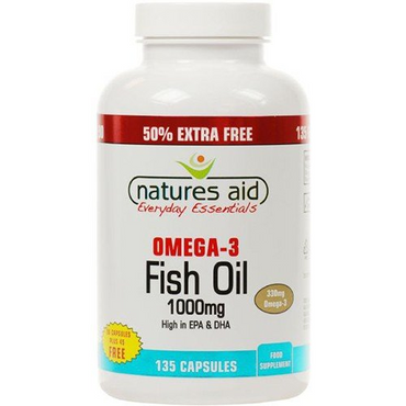 Natures Aid Promo Packs Fish Oil - 1000mg (Omega-3 Rich) - 90 + 33% EXTRA FILL