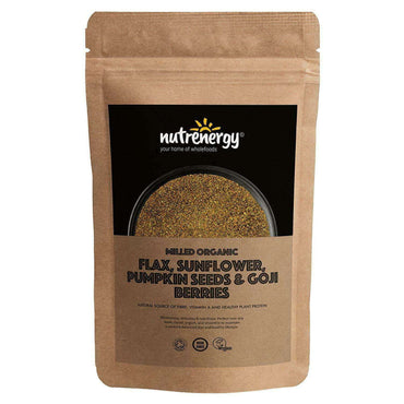 Nutrenergy Milled Organic Flax  Sunflower  Pumpkin Seed & Goji Blend 200g