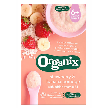 Organix Organic Strawberry and banana Porridge 120g