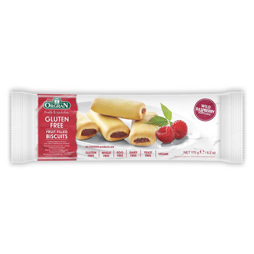 Orgran Wild Raspberry Flavoured Fruit Filled Biscuits 175g