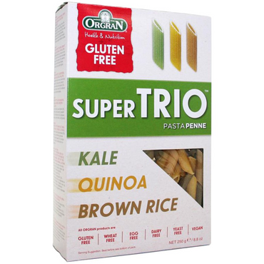 Orgran Super Trio Penne - Kale  Quinoa and Brown Rice 250g