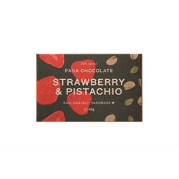 Pana Chocolate Strawberry & Pistachio 60% Cacao 45g (Pack of 3)