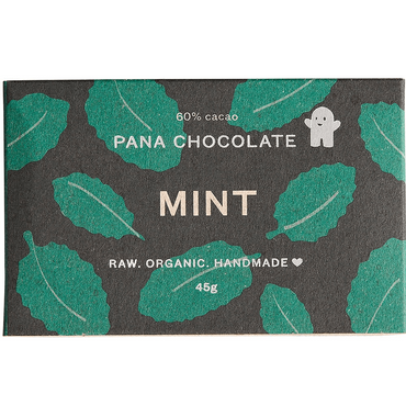 Pana Chocolate Mint Chocolate 60% Cacao (Pack of 3)