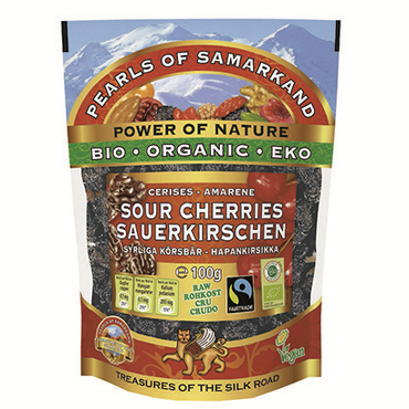 Pearls of Samarkand Organic Fairtrade sour cherries 100g