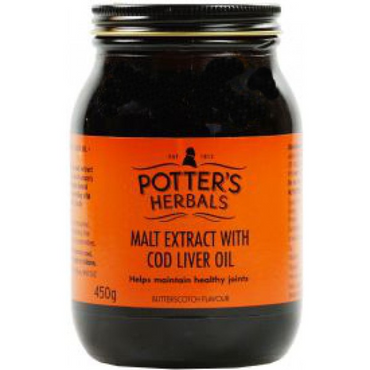Potters Malt Extract & Cod Liver Oil & Honey & Butterscotch 650g