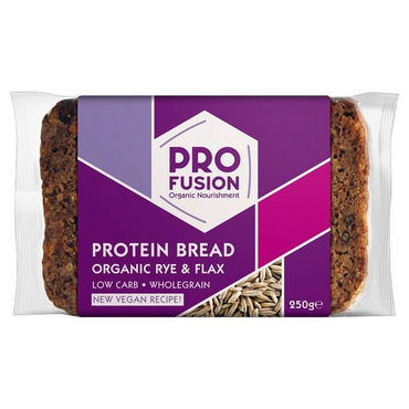 ProfusionOrganic Protein Bread - Rye & Flax 250g