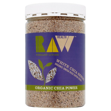 Raw Health Organic White Chia Seeds - Omega Rich 450g