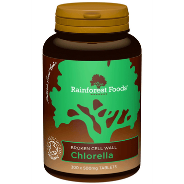 Rainforest Foods Organic Chlorella 500mg 300 Tablets