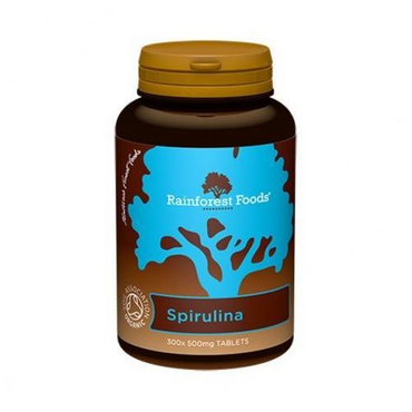 Rainforest Foods Organic Spirulina 500mg 300 Tablets