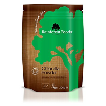 Rainforest Foods Organic Broken Cell Wall Chlorella Powder 200g