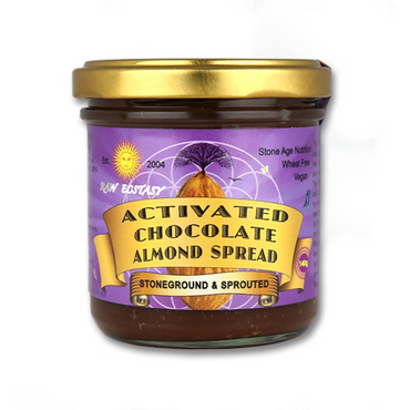 Raw Ecstasy Stoneground Raw Chocolate & Activated Almond Spread 140g