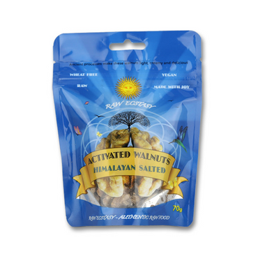 Raw Ecstasy Activated Walnuts with Mountain Spring Salt 70g