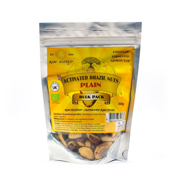 Raw Ecstasy Activated Brazil Nuts Plain/uncoated 300g