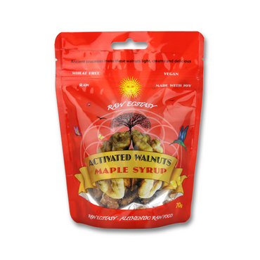 Raw Ecstasy Activated Walnuts with Maple Syrup 70g