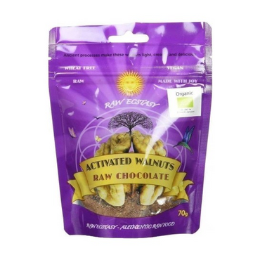 Raw Ecstasy Activated Walnuts with Raw Chocolate 70g
