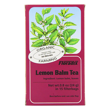 Floradix Lemon Balm Organic Herbal Tea 15 filterbags