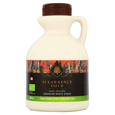 St Lawrence Gold Organic Grade A Amber Colour  Rich Taste Maple Syrup 500ml