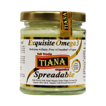 TianaFair Trade Organic Exquisite Omega 3 Spreadable Butter 150g