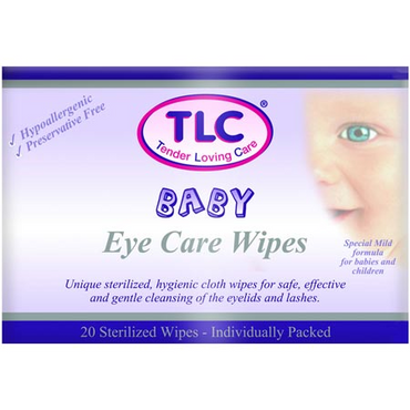 TLC Eye Care Wipes Baby 20's