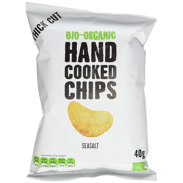 Trafo Organic Handcooked Seasalt Crisps 40g (Pack of 5)