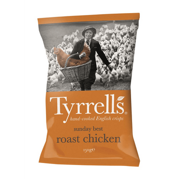 Tyrrells Sunday Best Roast Chicken Crisps 150g(Pack of 6)