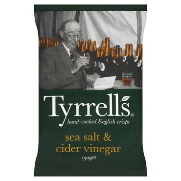 Tyrrells Sea Salt & Cider Vinegar Crisps 150g(Pack of 6)