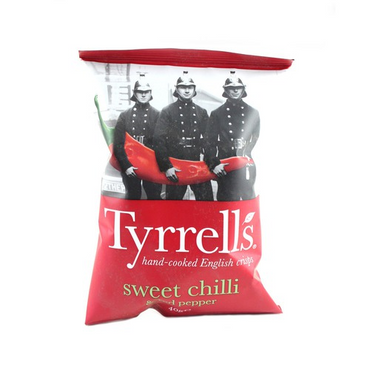 Tyrrells Sweet Chilli & Red Pepper Crisps 40g(Pack of 6)