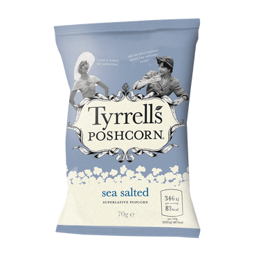 Tyrrells Proper Popcorn Lightly Sea Salted 70g(Pack of 6)
