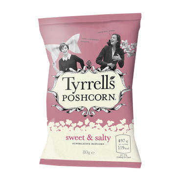Tyrrells Proper Popcorn Sweet & Salty 80g(Pack of 6)