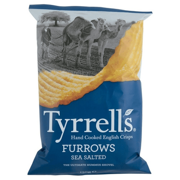 Tyrrells Furrows Sea Salted Crisps 150g(Pack of 6)