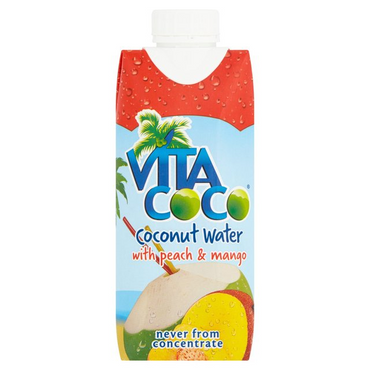 Vita Coco 100% Natural Coconut Water with Peach & Mango 330ml